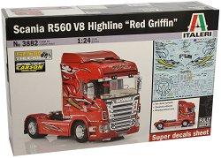 Влекач - Scania V8 Highline Red Griffin - Сглобяем модел -
